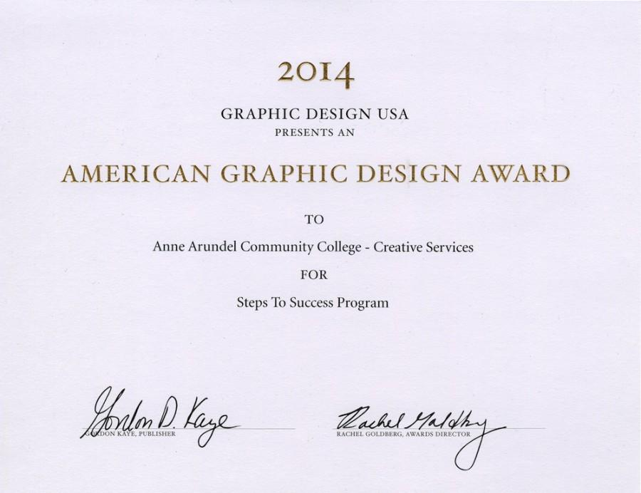 AACC Wins American Graphic Design Awards – Campus Current