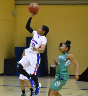 No. 10 Dania Taylor leaps into action.