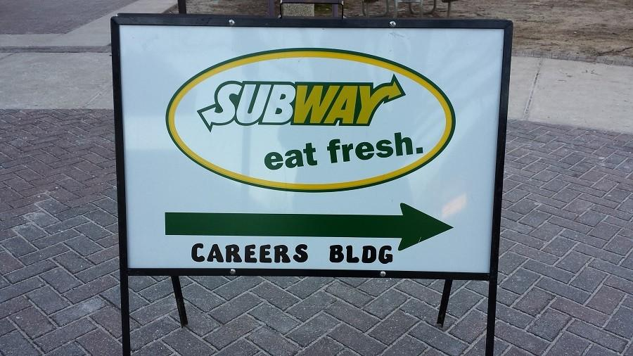 Subway is now open in the Careers building every day of the week.