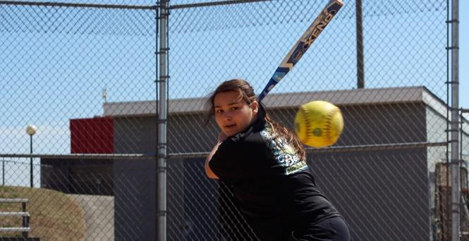 Student Athlete of the Month Nicole Cox has a Sharp Eye for a Good Hit