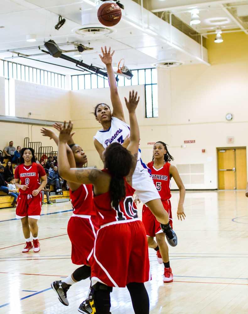 AACC's Women's Basketball team wonder girl, Tiffany McKinney was named NJCAA's All-American.