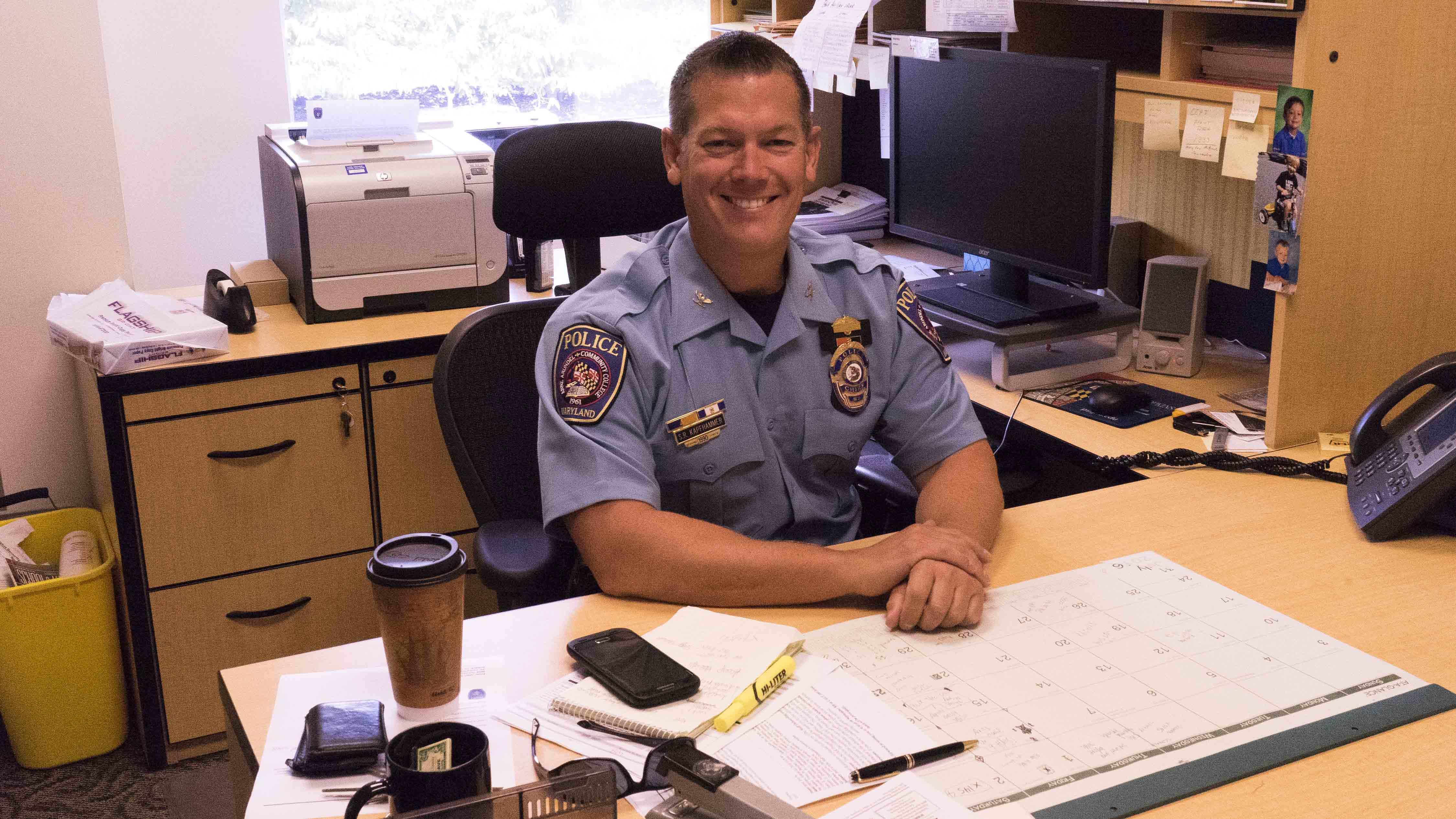 Campus Police Chief Sean Kapfhammer has been involved in law enforcement since he was 19 years old.