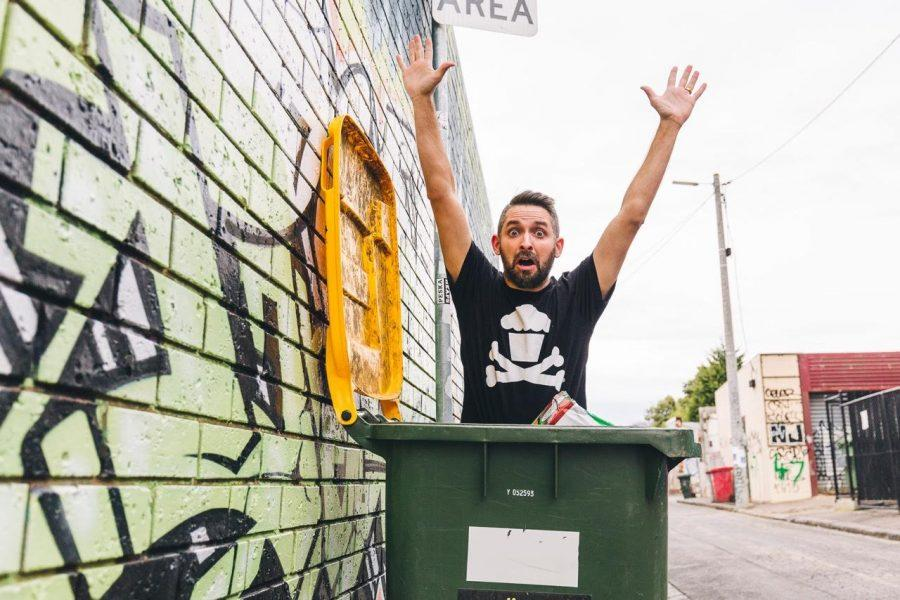 Johnny Cupcakes visited AACC on Sept, 26 and brought his charisma and humor.