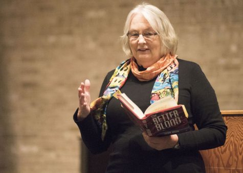 Maryland novelist Susan Moger draws blood at AACC