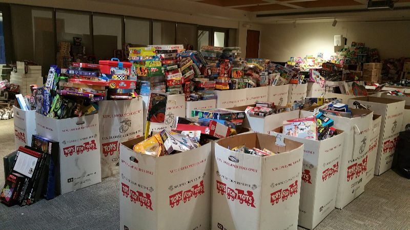 The AACC Department of Public Safety and Police holds a Toys for Tots drive every year.