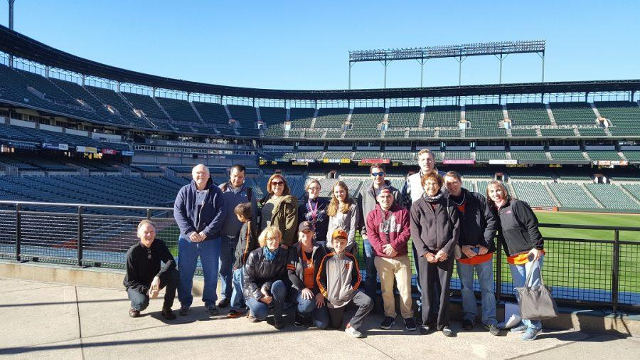 The History Club visits Oriole Park at Camden Yards.