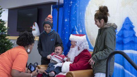 Santa comes to campus