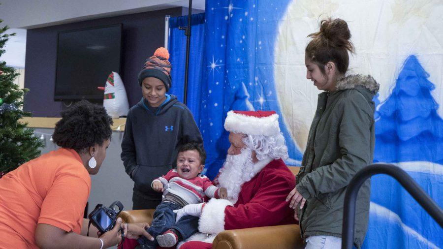 Santa+comes+to+campus