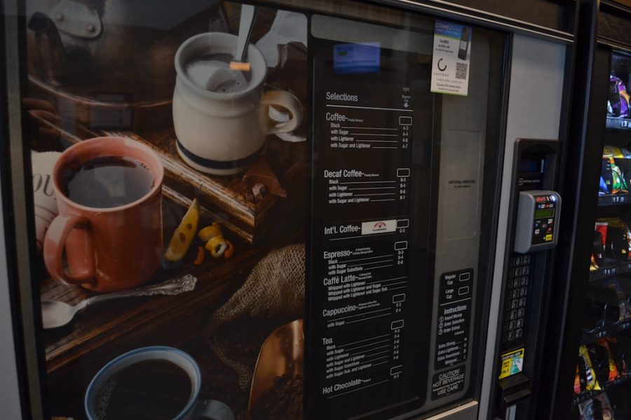 Some students are complaining about the nine coffee vending machines on the Arnold campus.