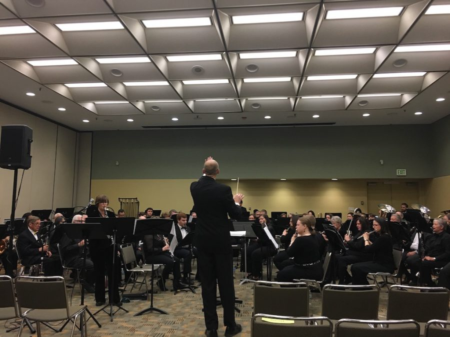 The Concert Band and Chamber Winds ensemble performs at the Baltimore Convention Center on Feb. 11.