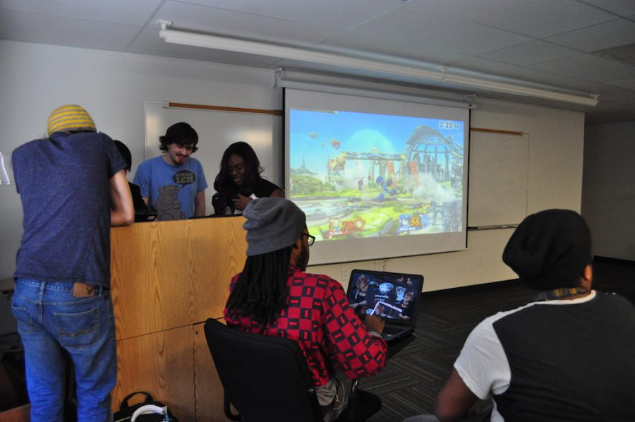The E-sports Club meets every Wednesday to relax and play games.