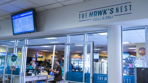 Students taste-test food from possible Hawk's Nest replacement