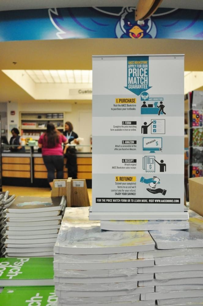 AACC's bookstore will Price Match with Amazon all new books.