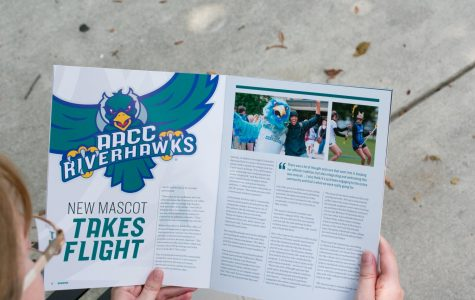 Wingspan features an article about AACC's 2-year-old mascot, Swoop.