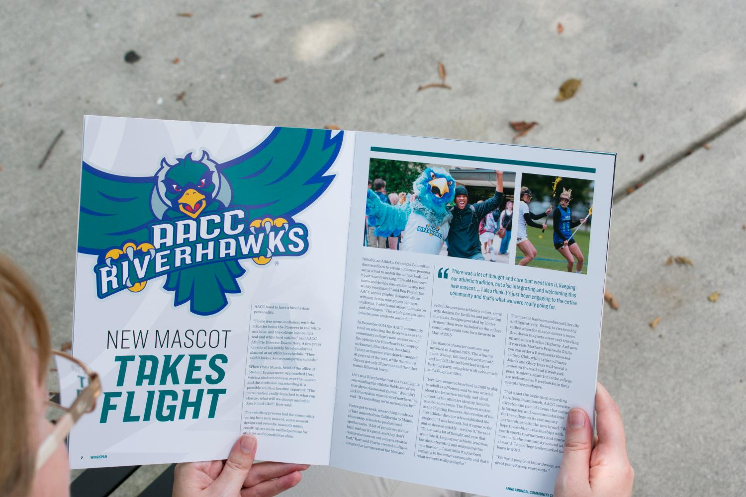 Wingspan+features+an+article+about+AACC%27s+2-year-old+mascot%2C+Swoop.