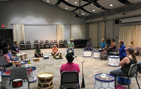 Scott Kettner holds Brazilian Maracatu workshop