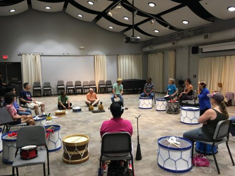 Scott Kettner holds Brazilian Maracatu workshop