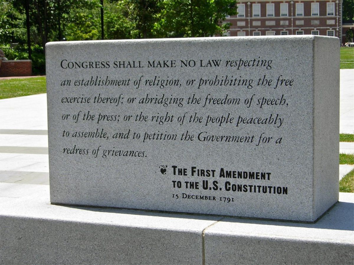 """""""Free speech"""" means different things to different people, but monuments like this one in Philadelphia remind us that it is everyone's right."""