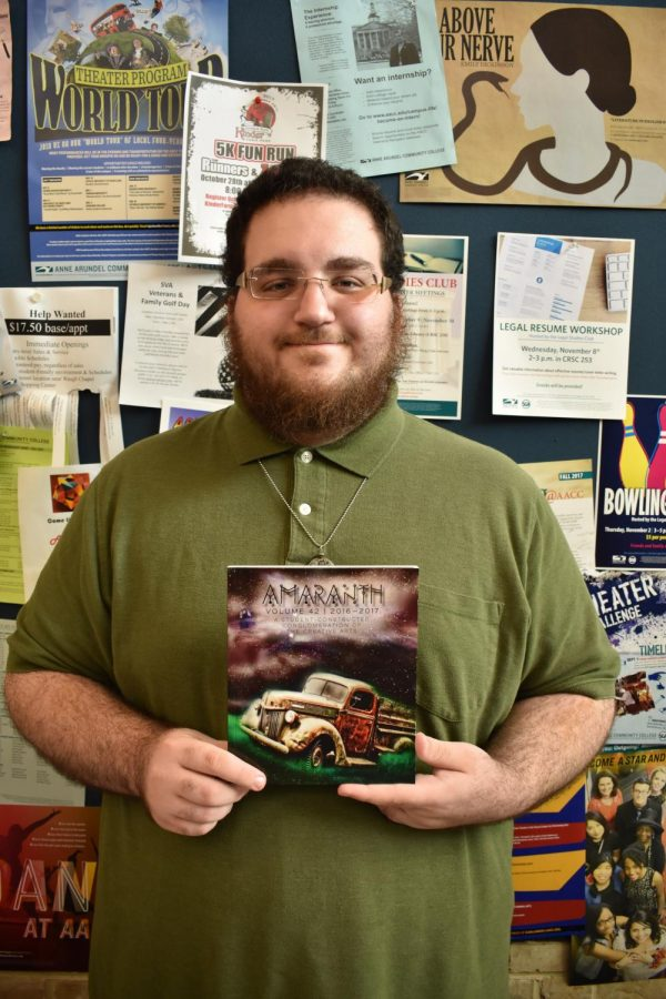 Amaranth's former Editor-in-Chief Jonas Pallaro-Sonneborn and his team won a first-place award  from the Community College Humanities Association.