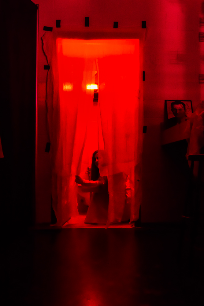 The theatre club used the backstage of Pascal to create a haunted house.