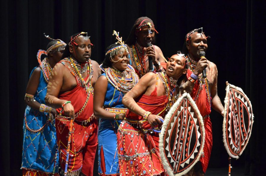 Maasai tribe performs traditional music, song
