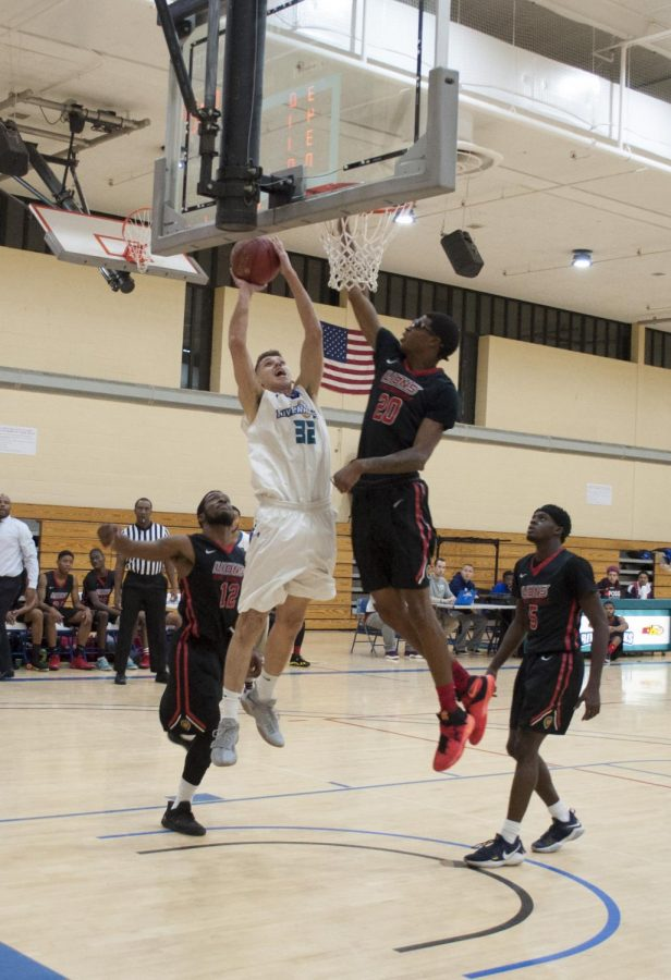 AACC's Men's Basketball fall short in 1st home game