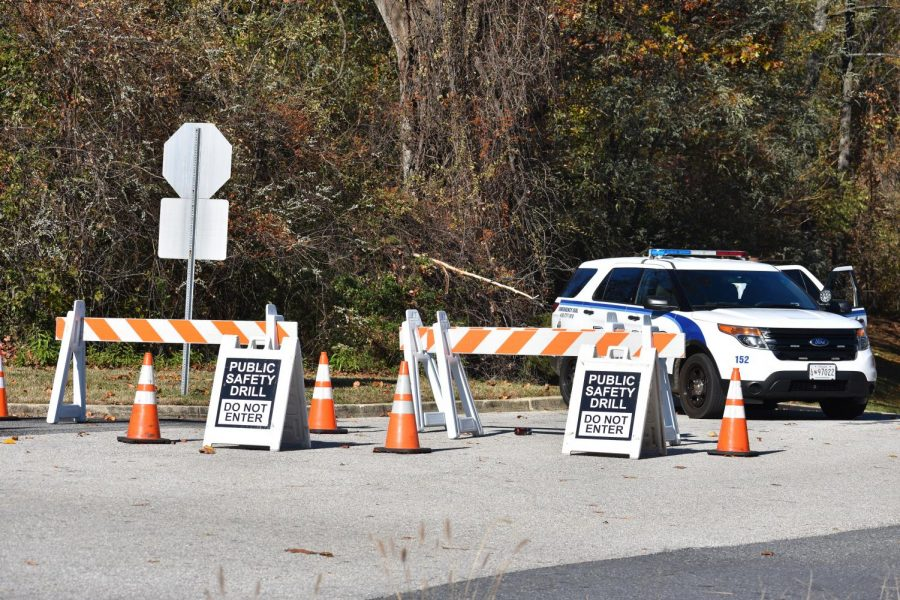 Campus and local police closed a lot on West Campus on Nov. 17 to practice working together.