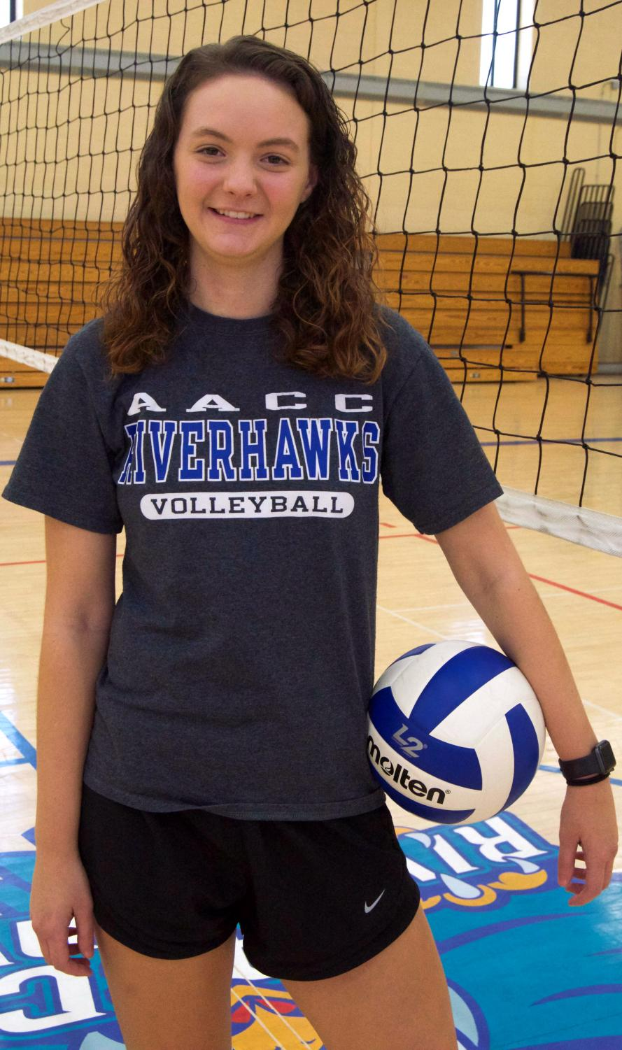 Computer science major Emelyn Wilkerson started the Volleyball Club to teach other people the sport.