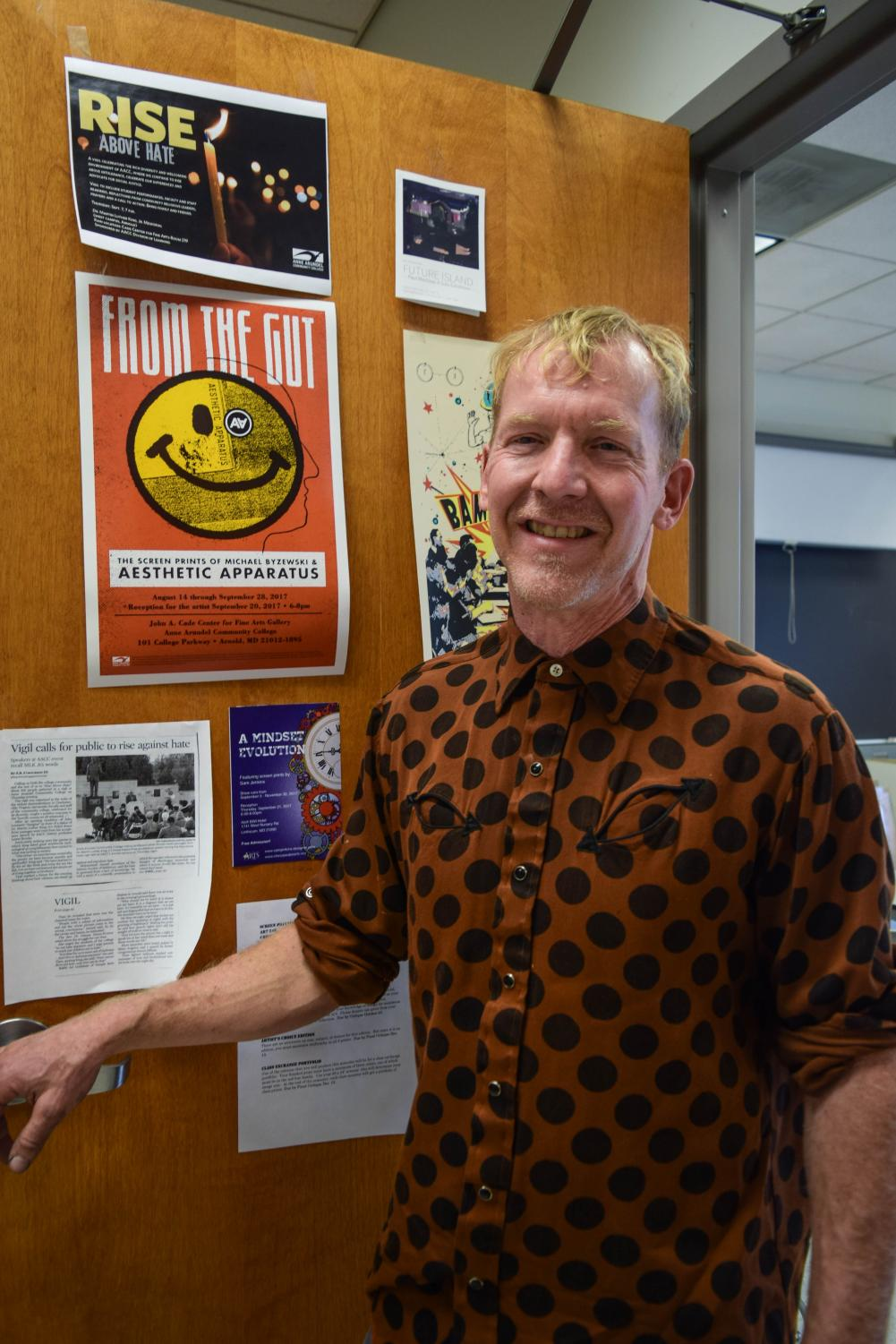 Art professor Chris Mona is the lead organizer for the Social Justice and Citizenship lectures. Photo by Raquel Hamner