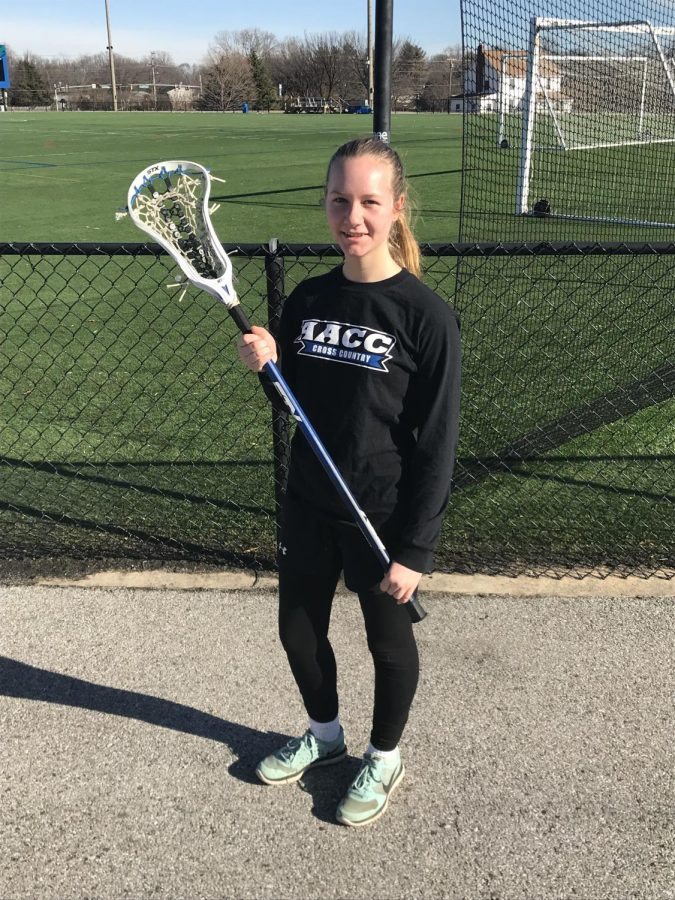 Lacrosse player Heather Verdin says she is excited to play this year. Photo by Vincent Moreland