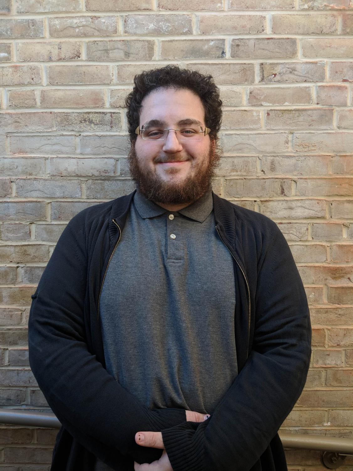 "Third-year student Jonas Pallaro-Sonneborn says his screenplay makes him feel ""very proud"" and he can't wait to show it at the 2018 Capital Fringe Festival in Washington, D.C., this July. Photo by Brandon Hamilton"