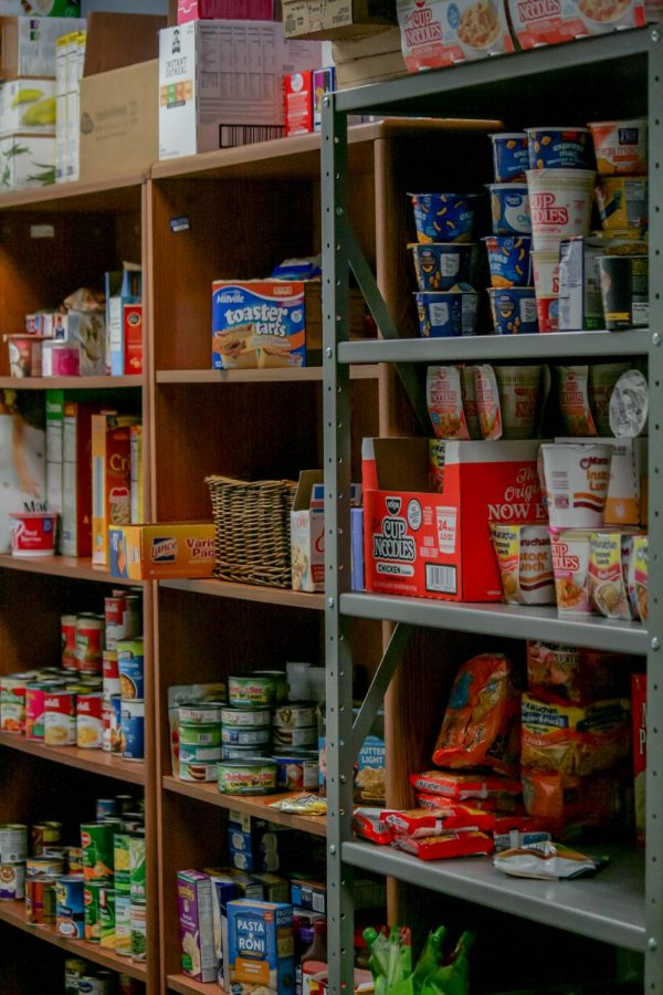 AACC's student food pantry is overflowing, thanks to campus donations. Photo by Raquel Hamner