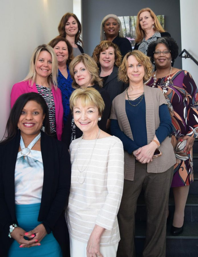 AACC employs twice as many women as men in faculty, administration and staff positions. Pictured here are some of AACC's female administrators.