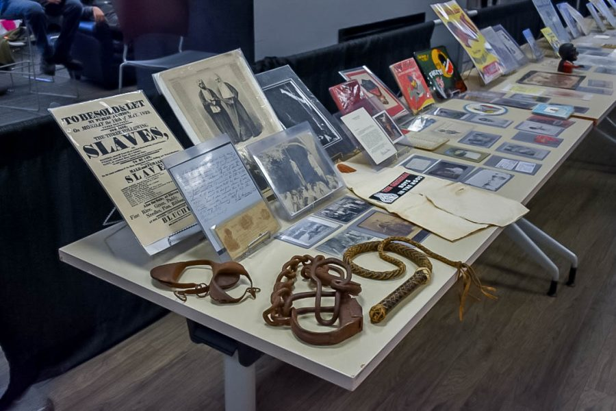 The SUN Dining Hall held artifacts of black history from the Black History Mobile Museum.