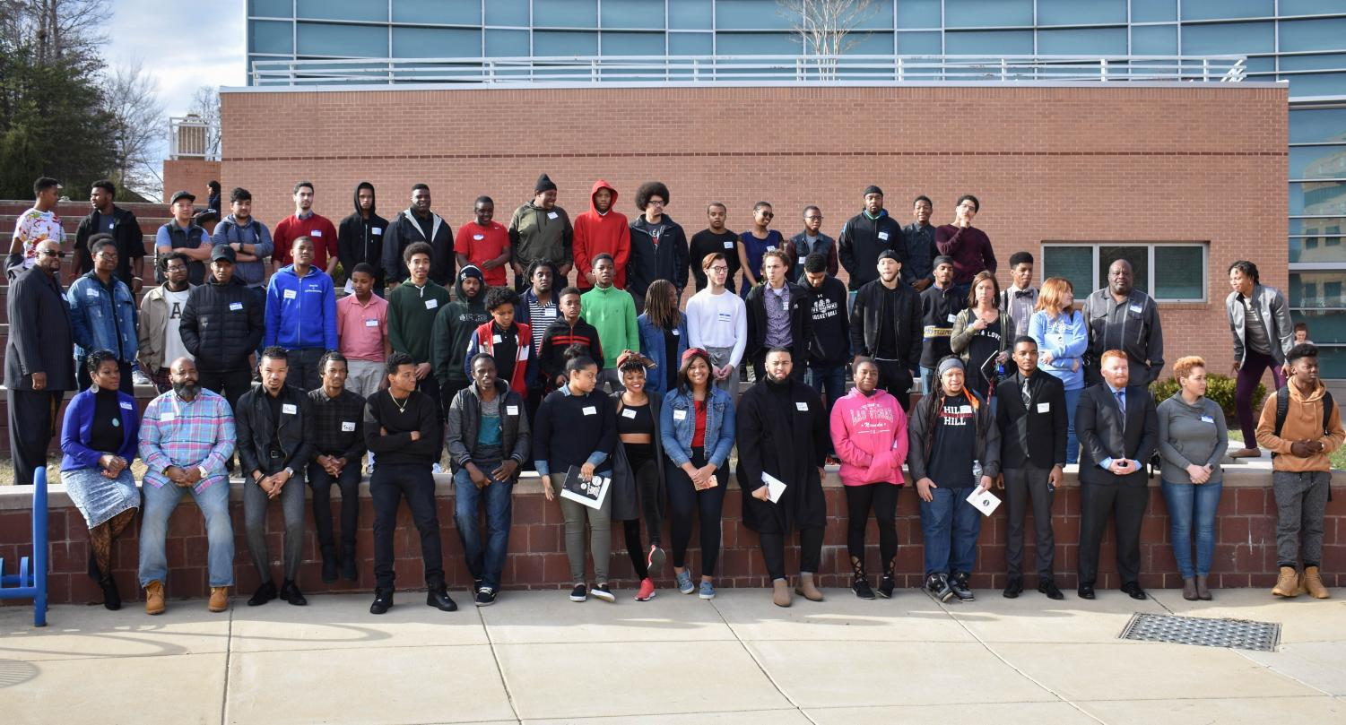 A group of students who participated in the 8th Annual Black Male Initiative Summit.