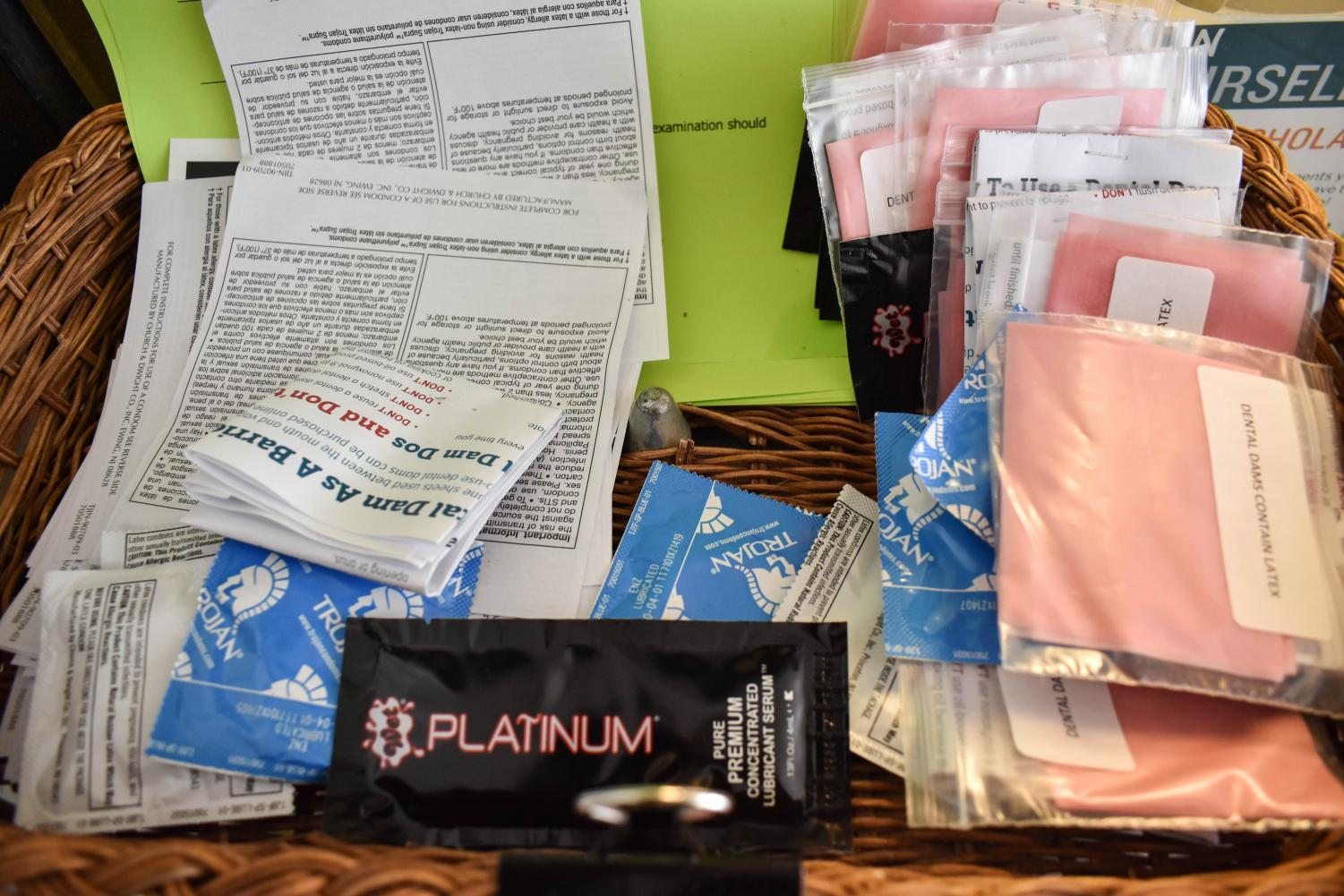 Condoms, lubricant and dental dams are some things students can get for free at the Health Center in SUN.