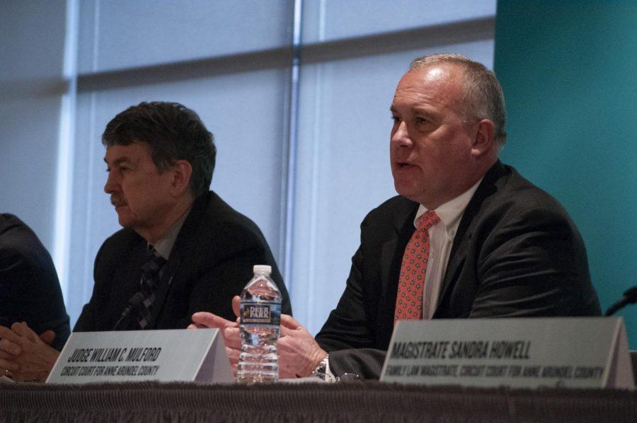 Maryland Circuit Judge William Mulford speaks at the forum.
