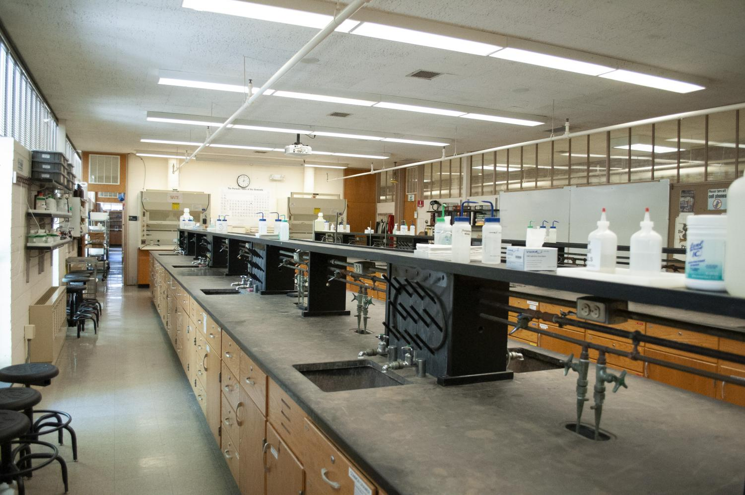 The county executive's proposed budget eliminates funding college administrators had planned to use to update the Dragun building's science labs.