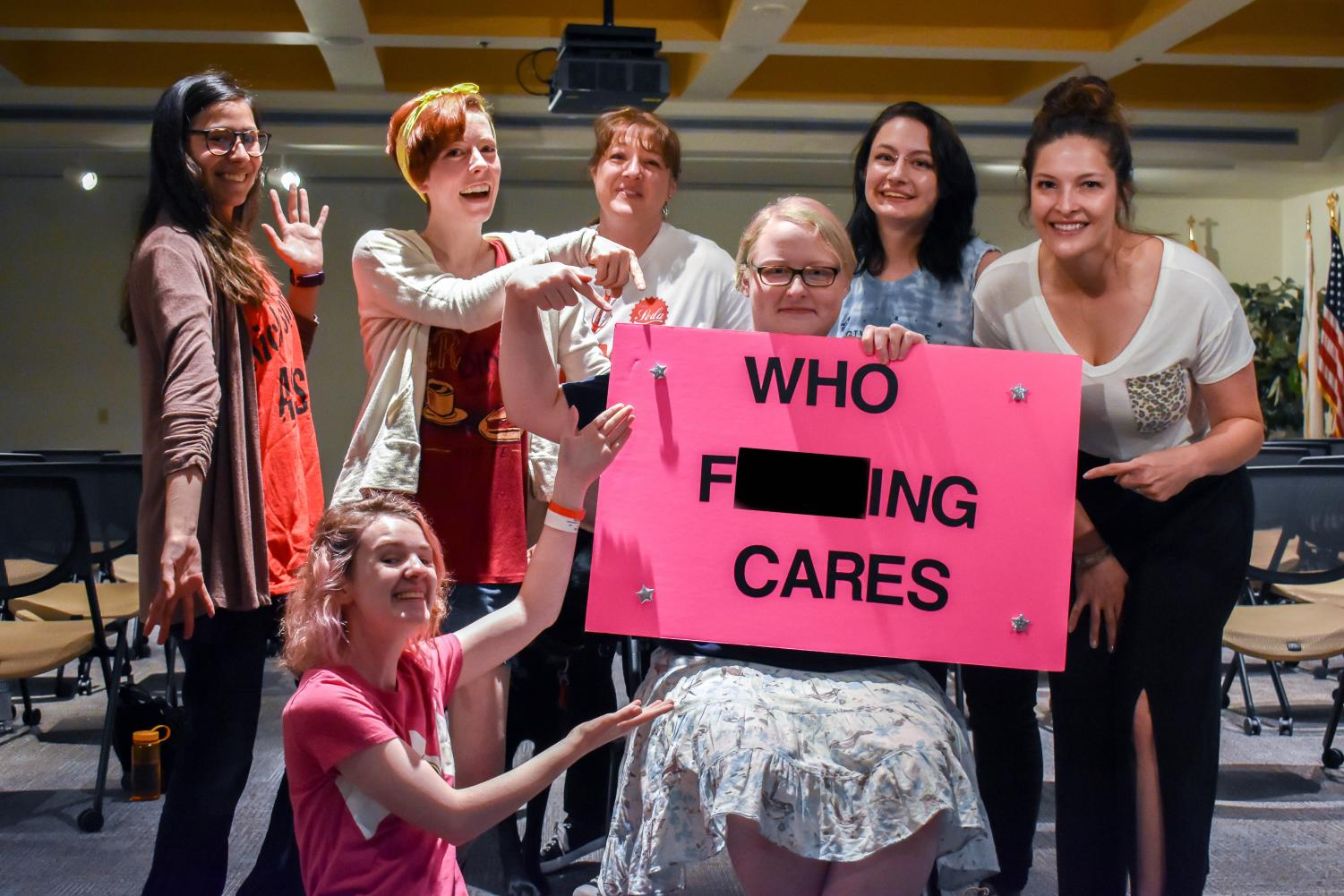 Members of Students Out to Destroy Assumptions—a club that supports students with disabilities—told stories and gave presentations on their lives with disabilities.
