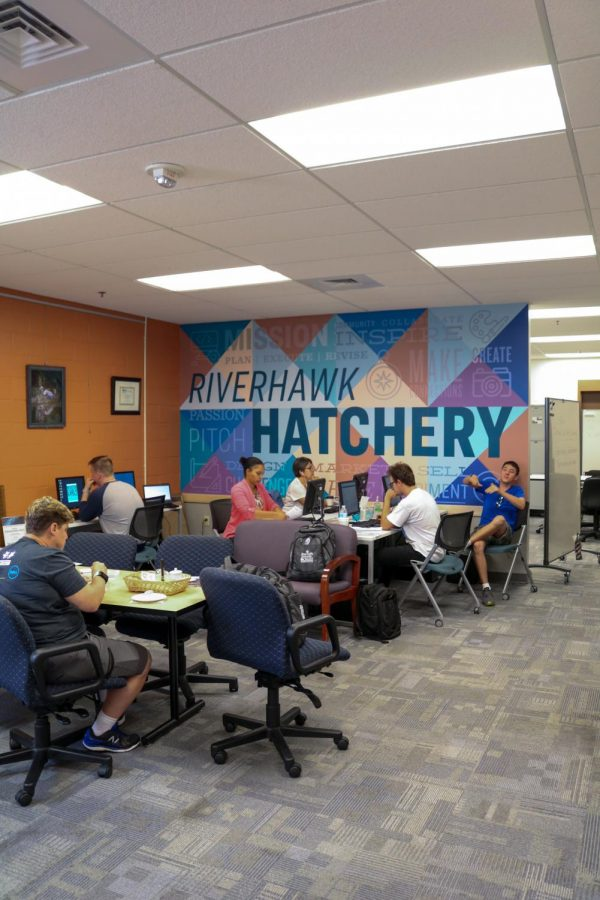 Students can start their own businesses on campus through The Hatchery, a space for their entrepreneurial ideas to start and grow.