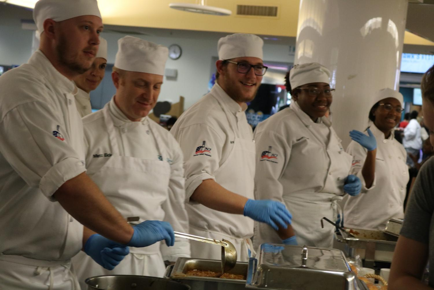 HCAT students prepare for the annual Empty Bowls event, which raises money for veterans on campus.