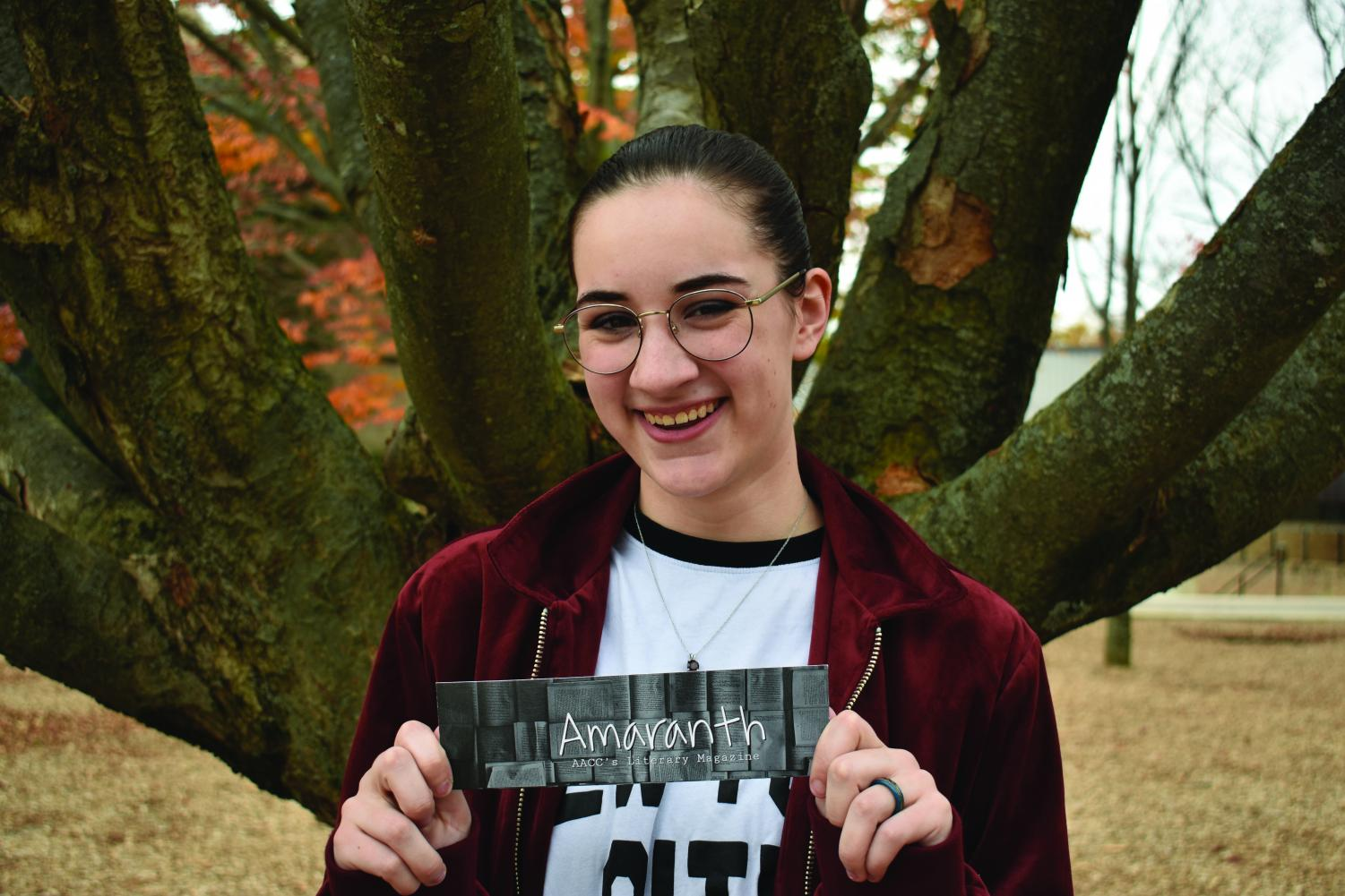 Ren Bishop, a second-year psychology student, was the editor of Amaranth for the award-winning edition