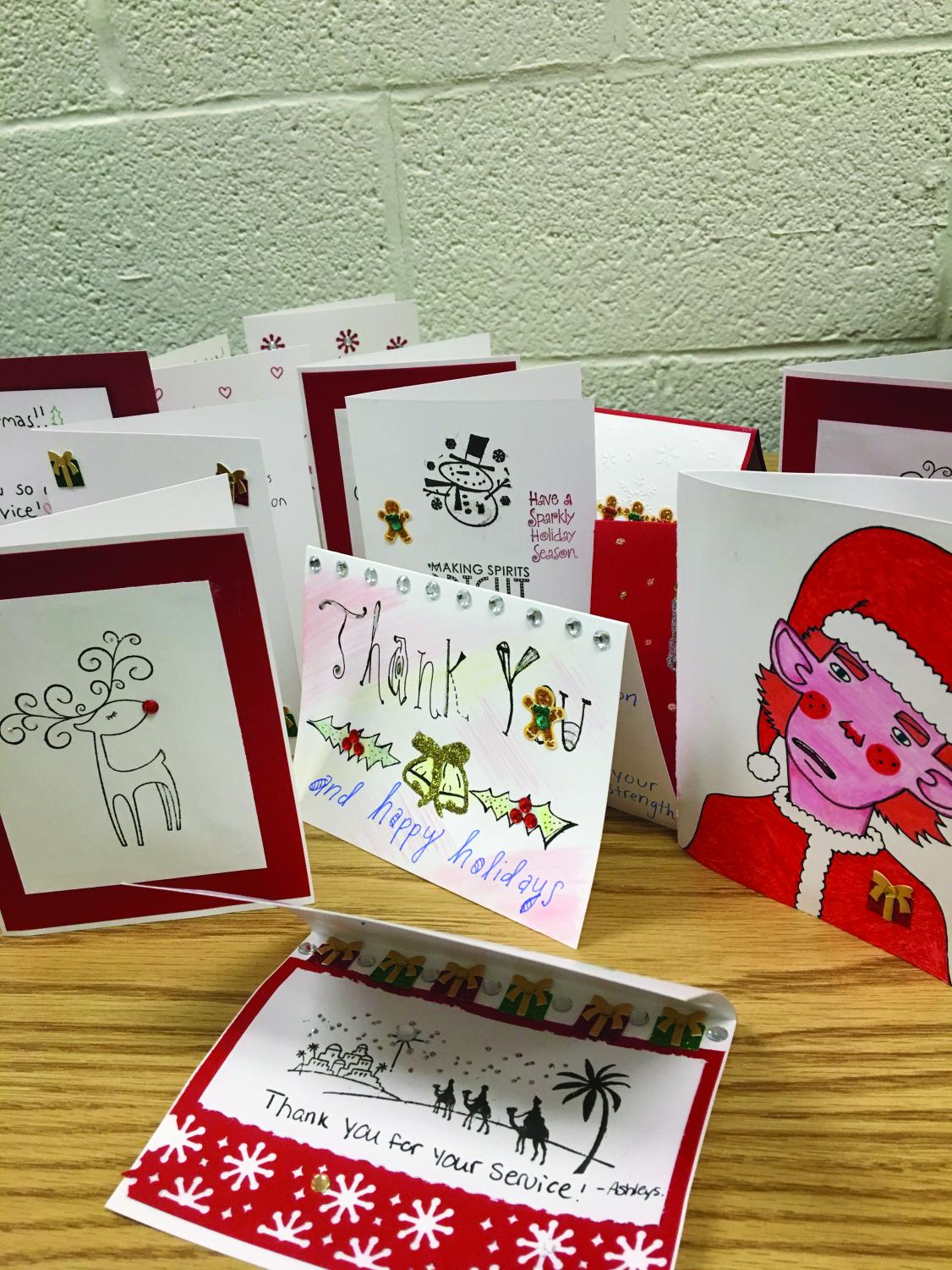 This holiday season, Campus Current's staff designed thank-you cards for soliders. Campus Current sent these cards, toiletries and a copy of the student newspaper to a unit in Afghanistan.