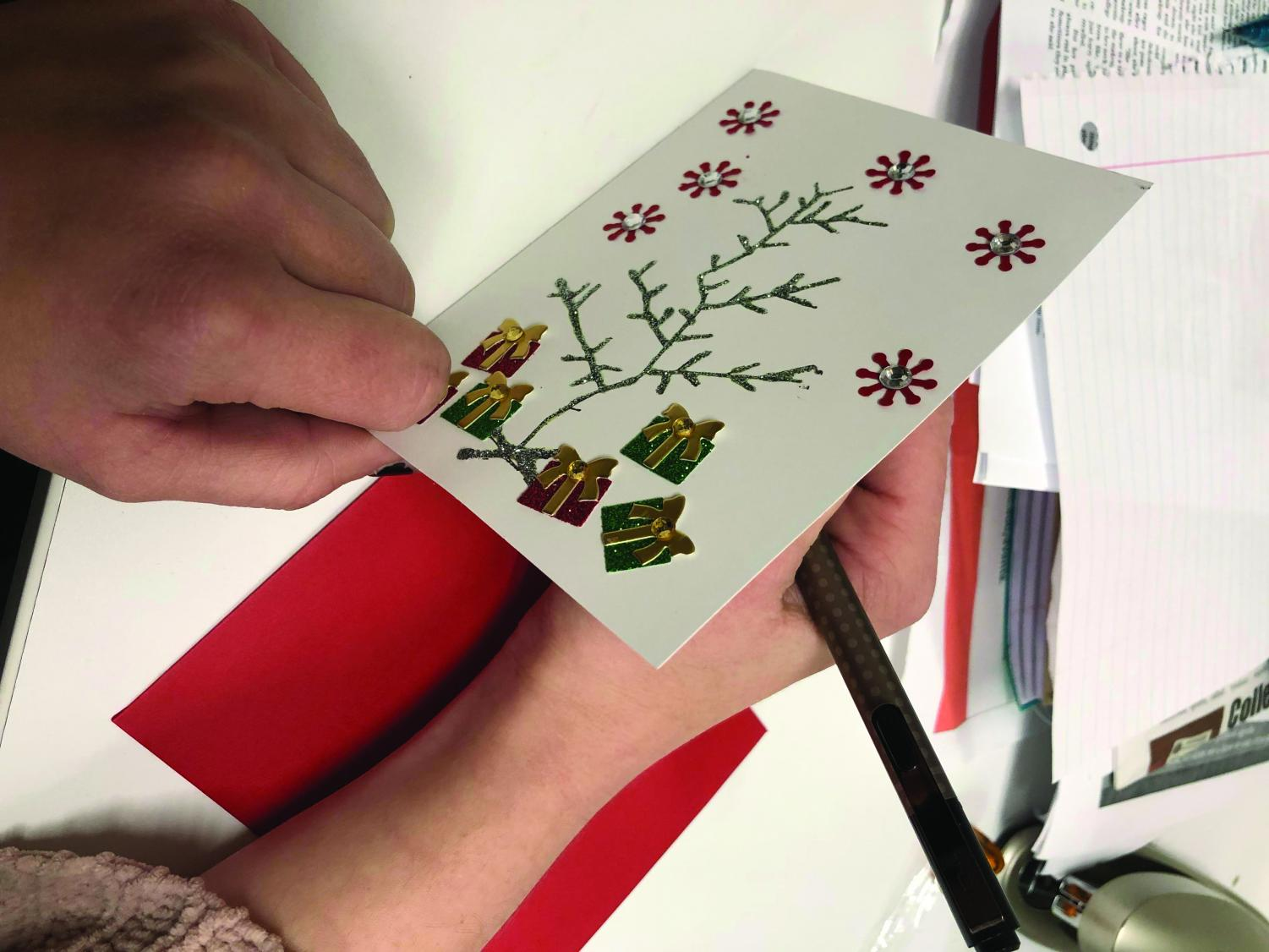 Making cards is a low-cost and easy gift idea.