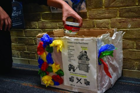 Communications class collects food for pantry