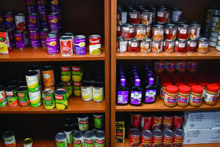 The campus food pantry in SUN 225 is sponsored by the Maryland Food Bank and allows students to take up to 30 pounds of food and toiletries per visit.