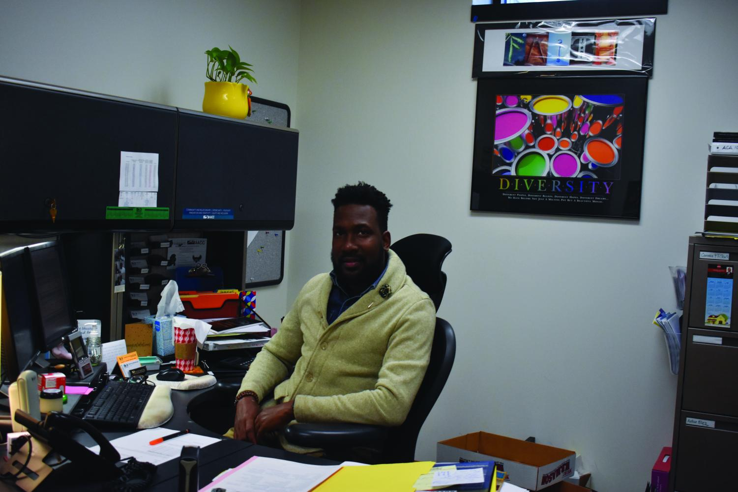 Leon Thomas, who oversees AACC's Black Male Initiative, is the new director of student engagement.