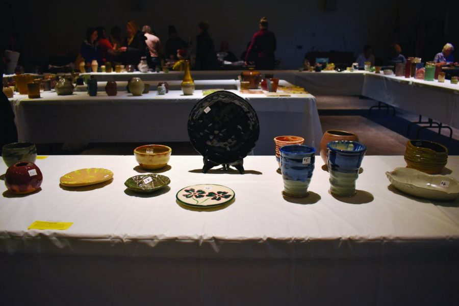 AACC sculpture students raise money by selling their artwork at a holiday ceramics sale on campus Nov. 16.
