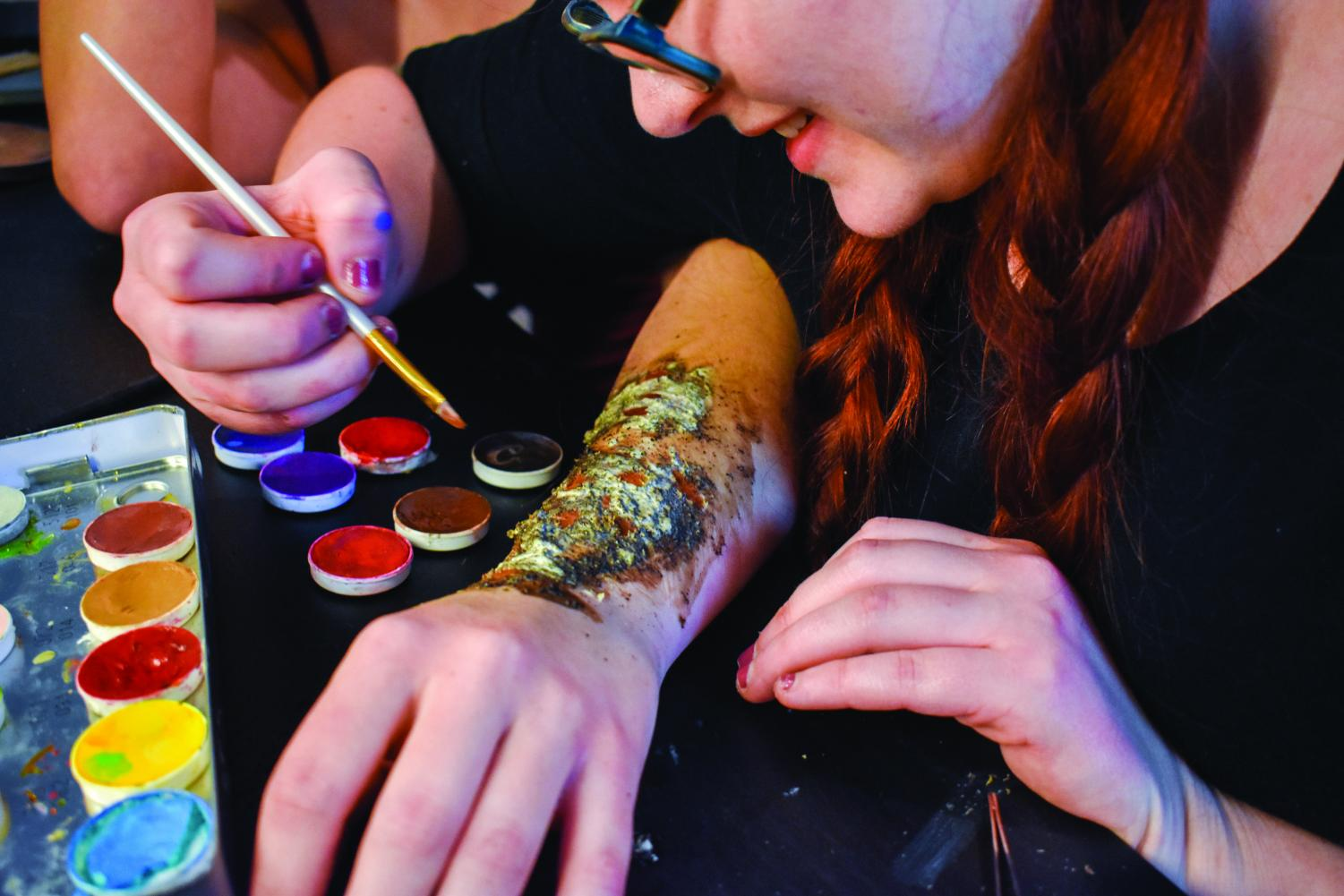 Third-year entrepreneurship student Emily Sokolowski does special-effects makeup and plans to start her own makeup company in the future.