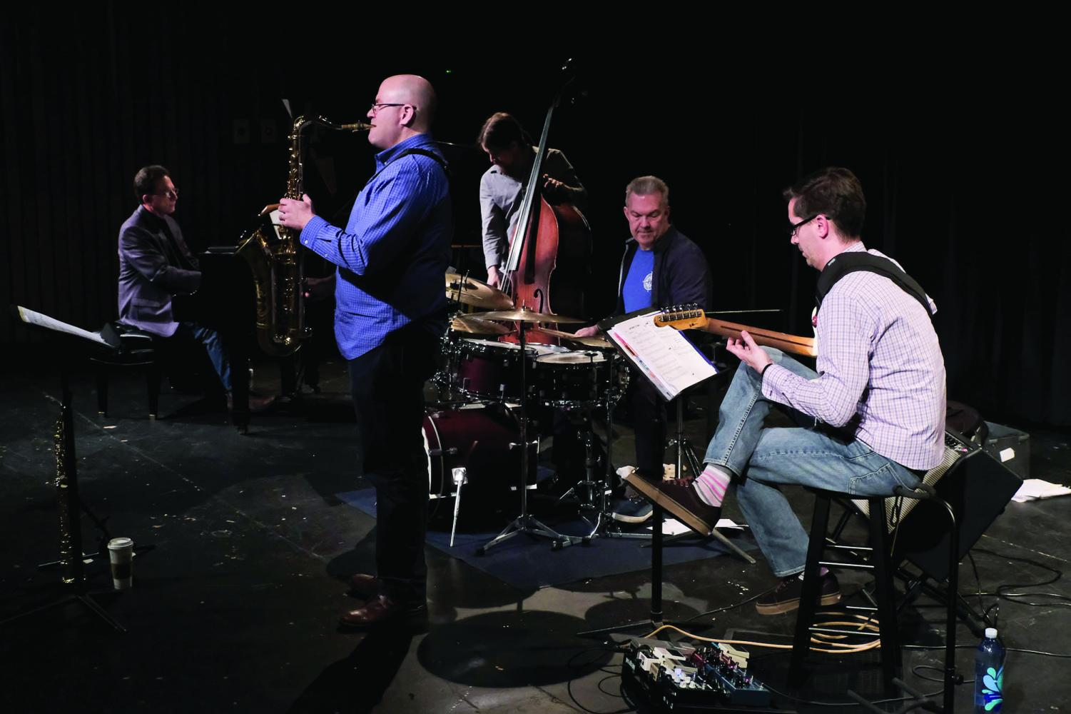 Dr. Ian Wardenski and his band, the Ian Wardenski Quintet, are recording music this semester.